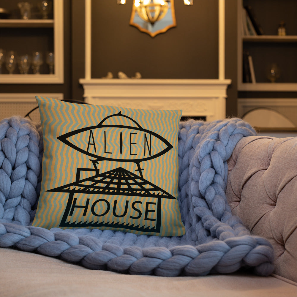 ALIEN HOUSE PILLOW [18×18]