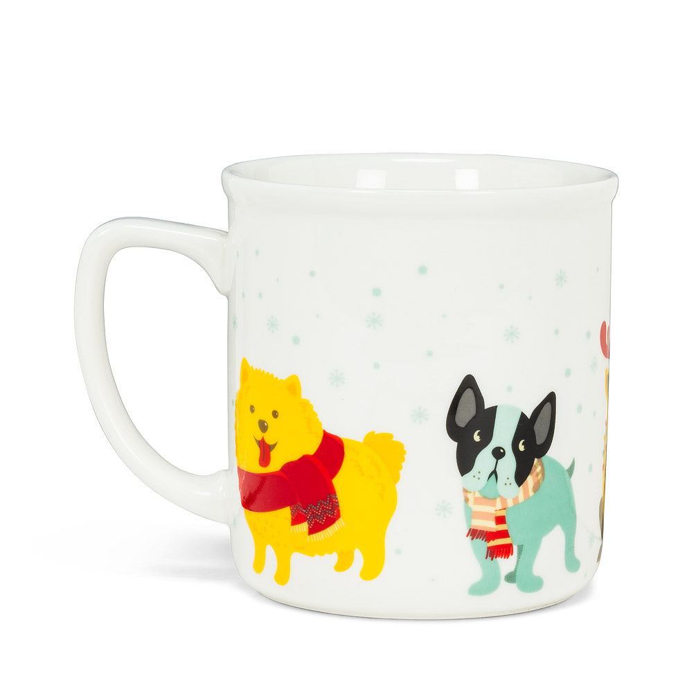 Small Winter Dogs Mug, 14oz