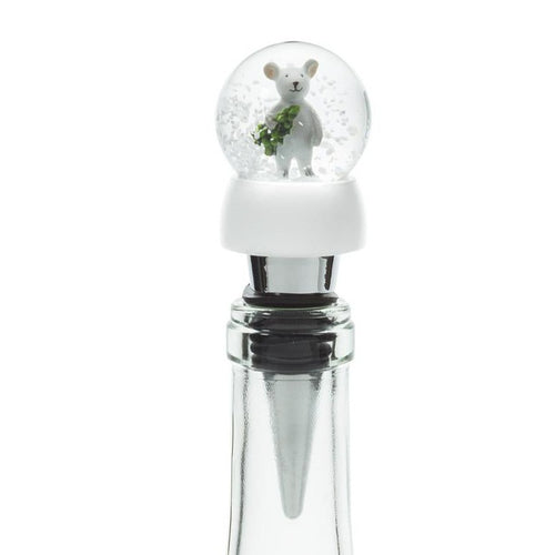 Mouse Snow Globe Bottle Stopper