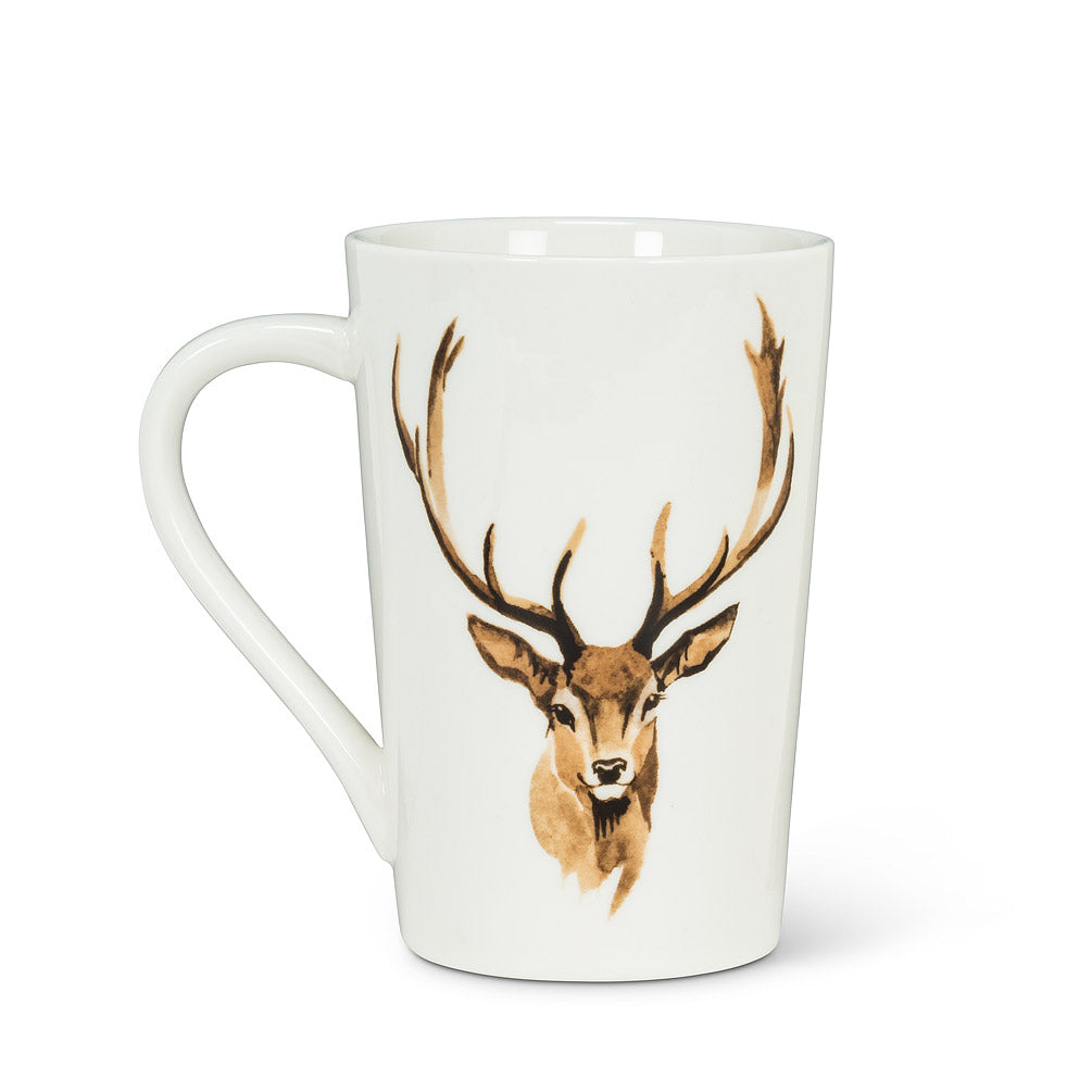 Tall Stag Head Mug, 12oz