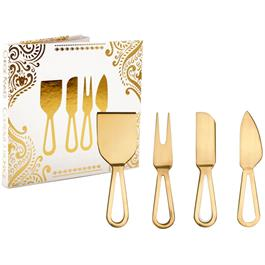 Gold Finished Cheese Knives