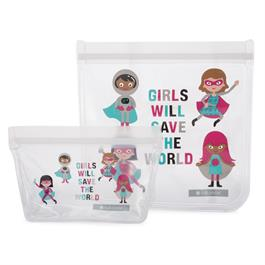 Reusable Lunch Bags, Girl Power