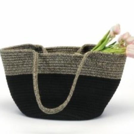 Market Baskets, Jute Black Basket