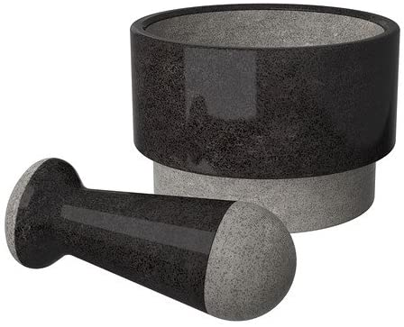 Mortar & Pestle, Blk Marble