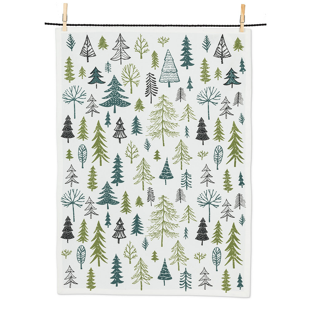 Allover Trees Tea Towel