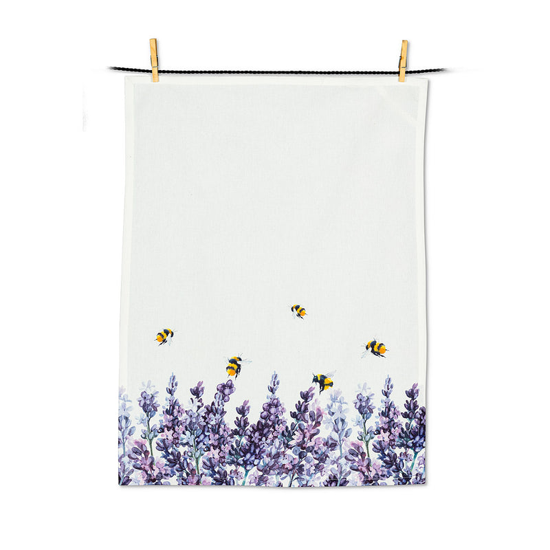 Lavender and Bees Tea Towel