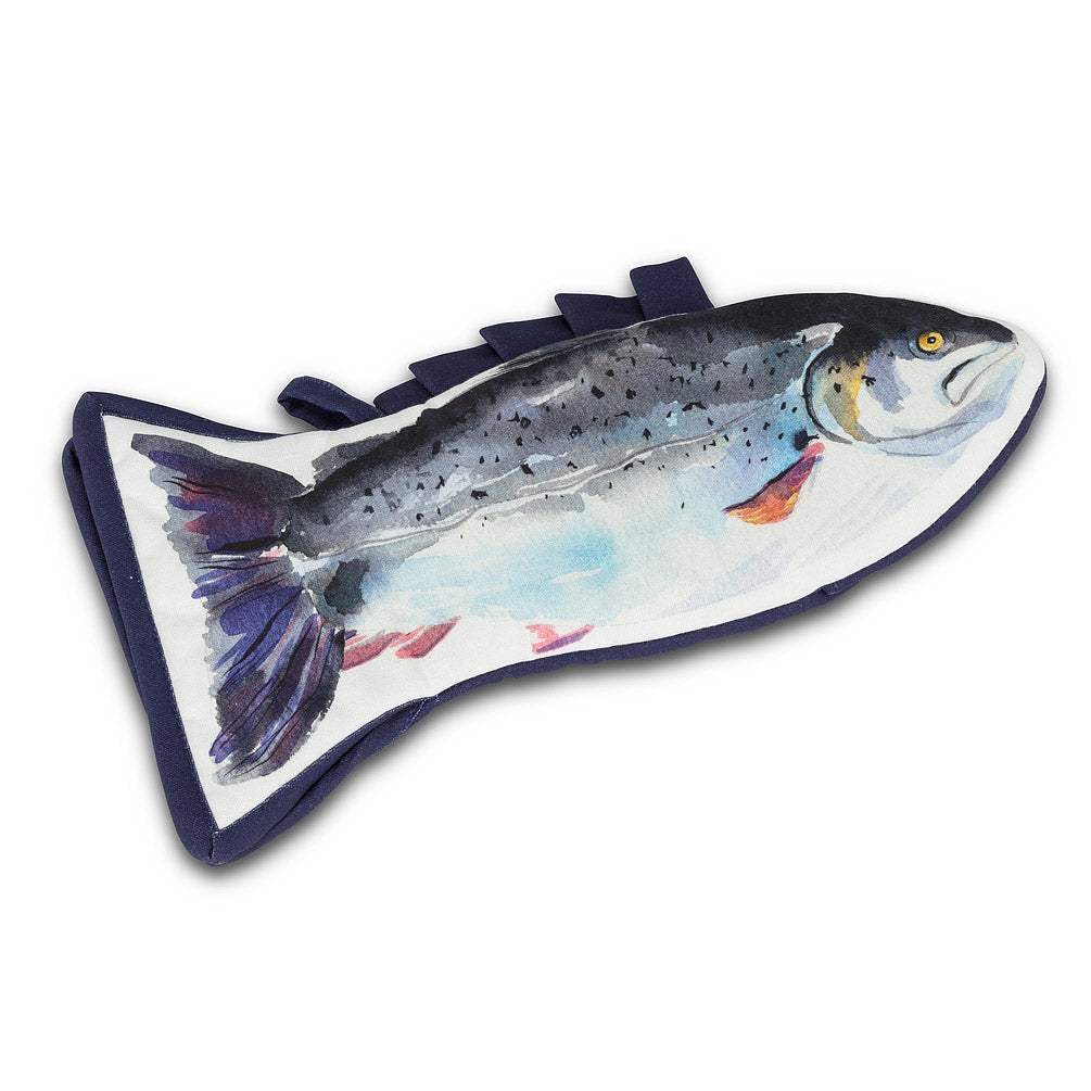 Trout Shaped Oven Mitt