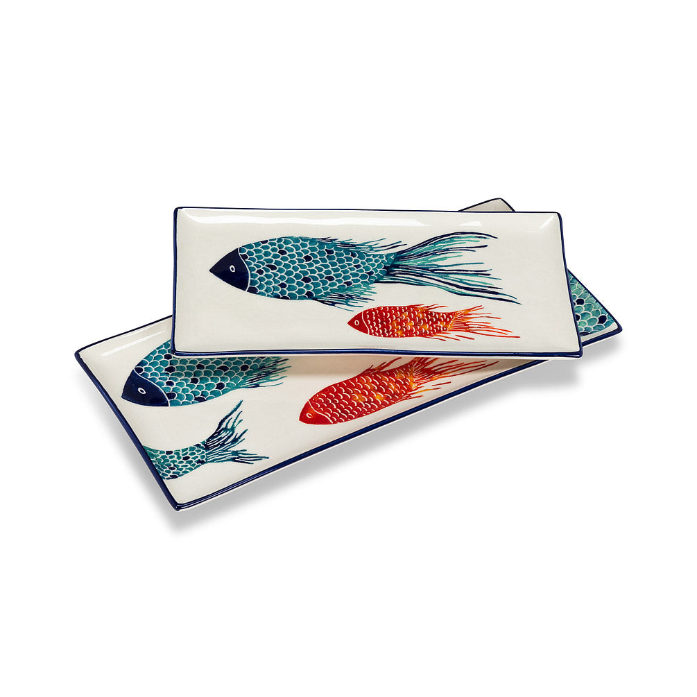 Ocean Rectangle Platter, Med.