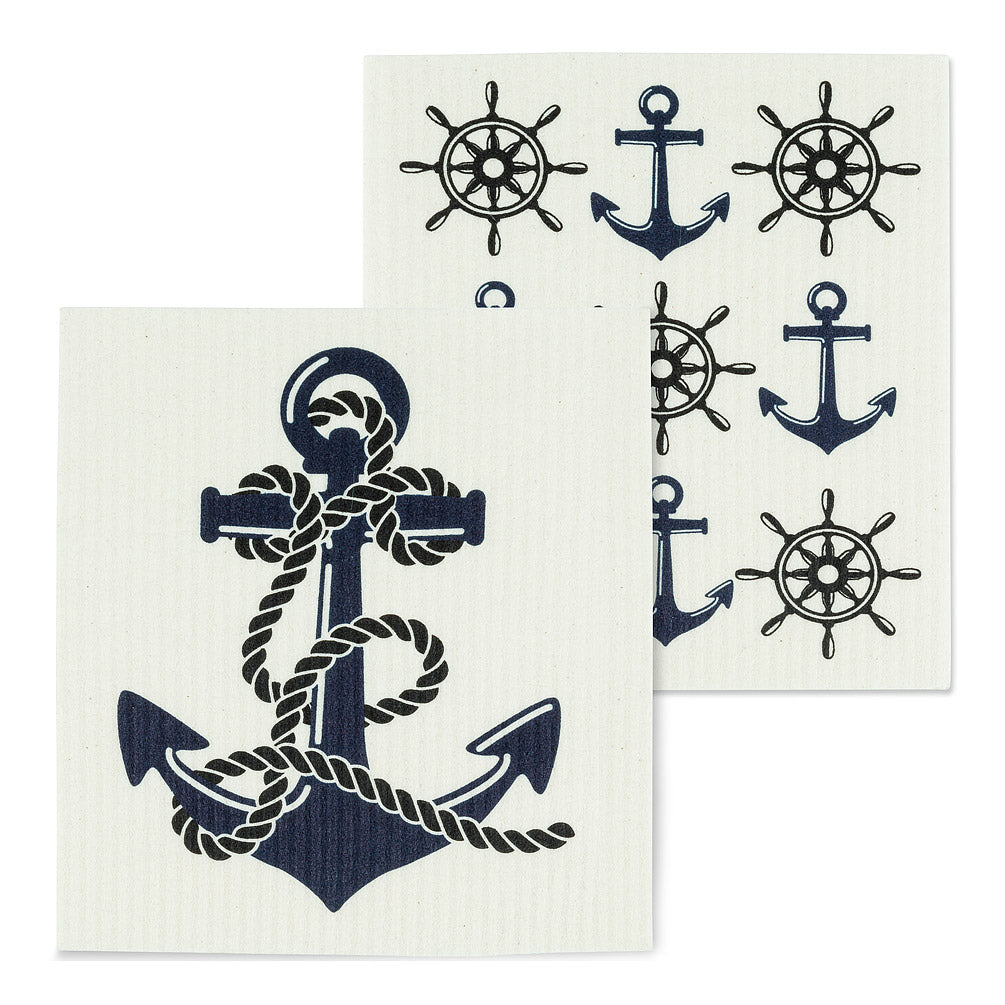Swedish Cloths - Anchor, Set of 2