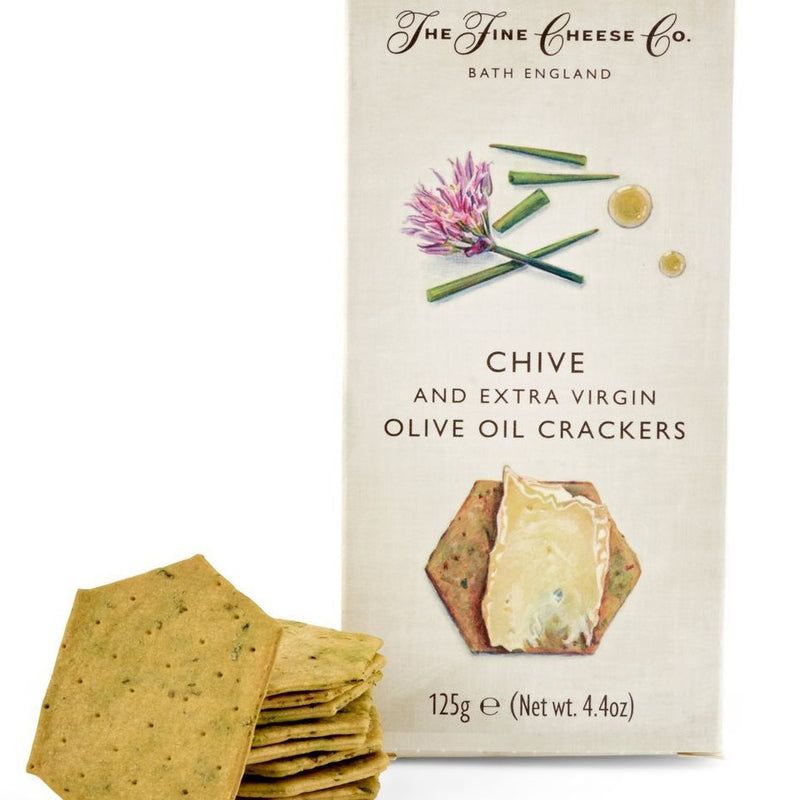 Chive & Extra Virgin Olive Oil Crackers