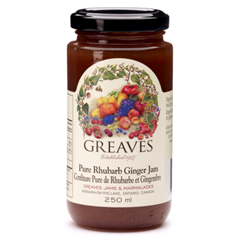 Pure Rhubarb Ginger Jam, 250ml