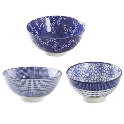 Blue / White Porcelain Bowls, Set of 3