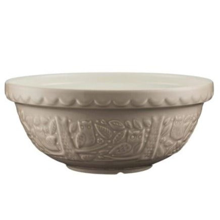 In the Forest,  26cm Stone Owl Mixing Bowl