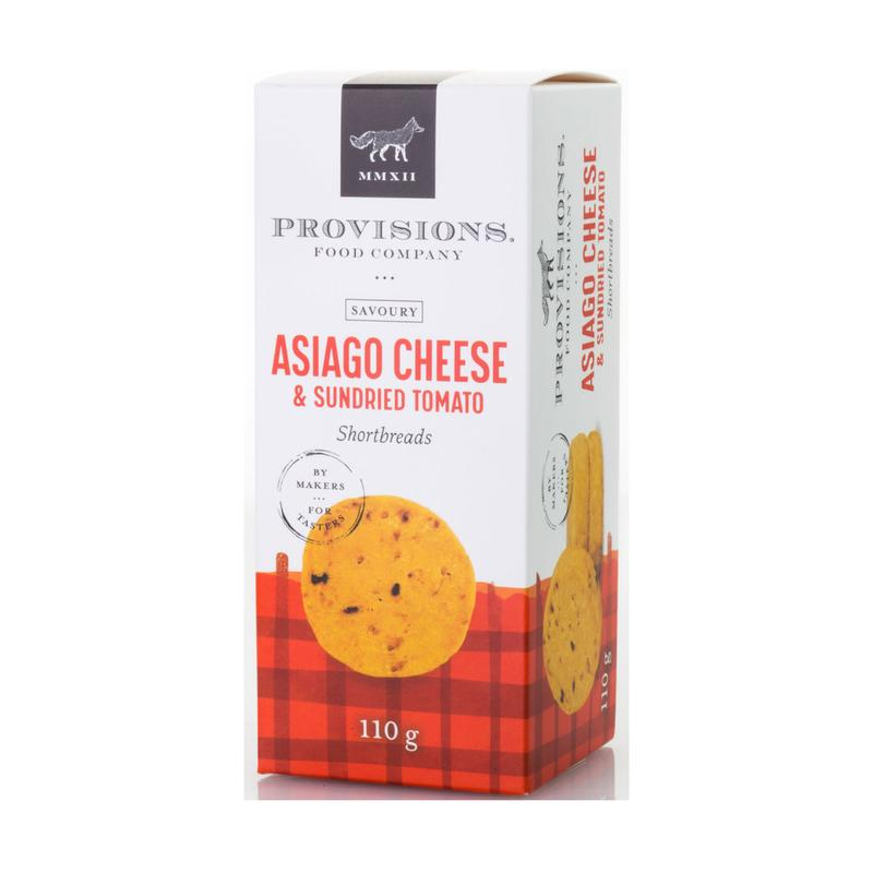 Provisions Asiago Cheese & Sundried Tomato Shortbread, 110g