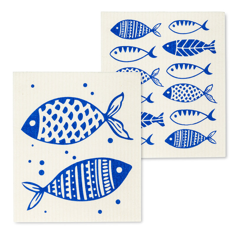 Swedish Cloths - Fish, Set of 2