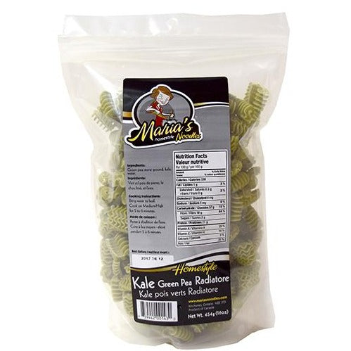 Maria's Kale And Green Pea Radiatore
