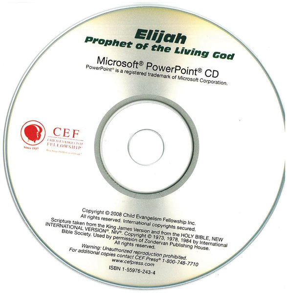 Elijah: Prophet of the Living God - PPT CD