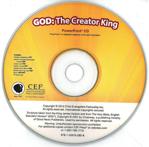 God: The Creator King - PPT CD