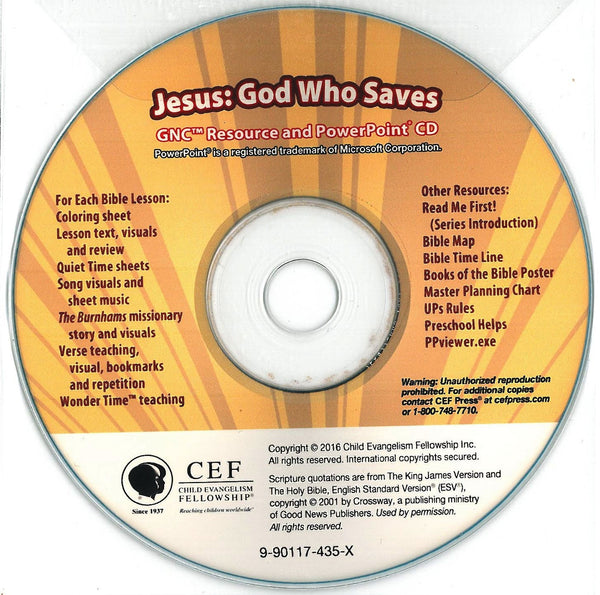 Jesus: God Who Saves - PPT CD