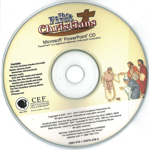 The First Christians - PPT CD