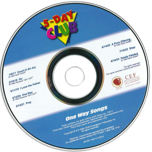 5-Day Club - Music CD (2005 Version)