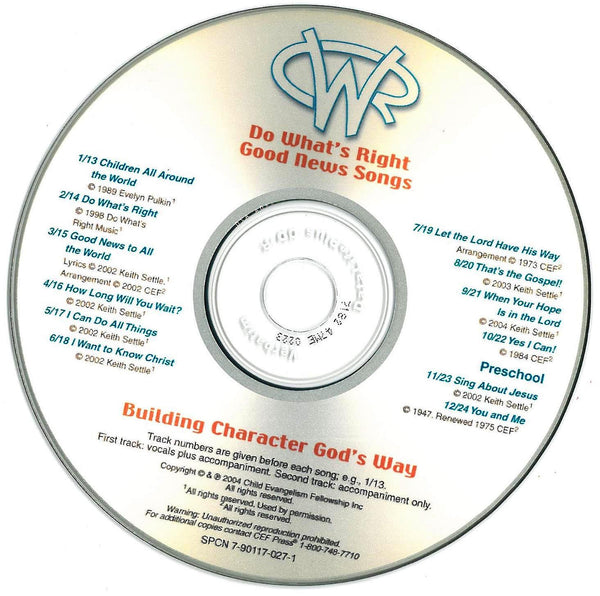 Do What's Right: Good News Songs - Music CD