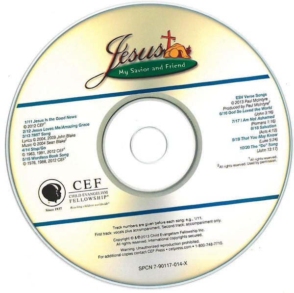 Jesus, My Savior and Friend - Music CD