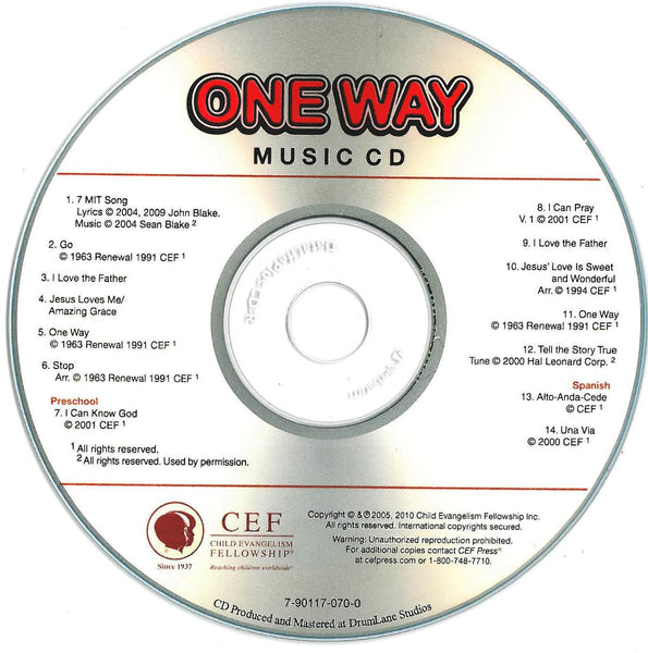 One Way - Music CD