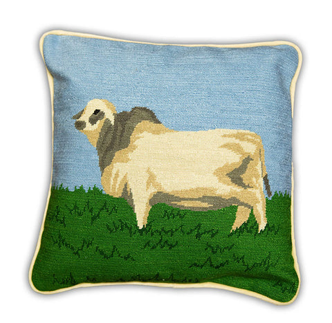 Brahman Embroidered Pillow