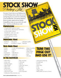 Stock Show Packing List - Digital Download