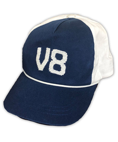 V8 Embroidered Navy Cap