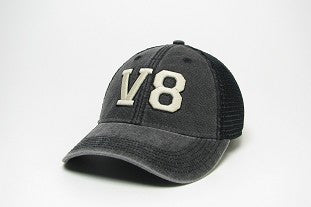 V8 Distressed Black Cap