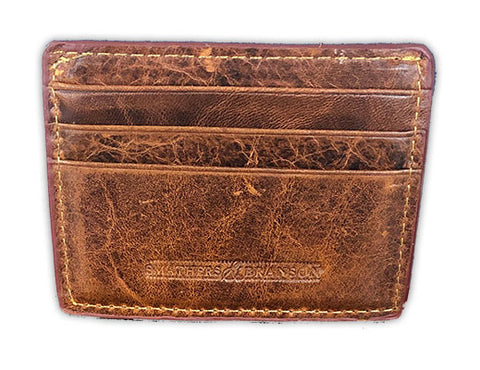 Brahman Embroidered Credit Card Wallet