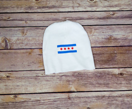 Chicago Flag Baby Hat