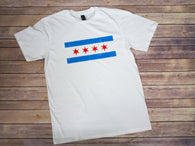 Unisex Chicago Flag T-Shirt