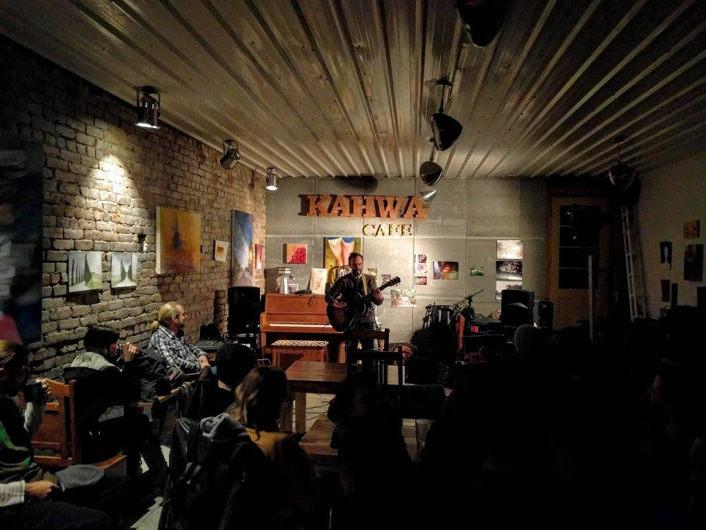 Kahwa café, concert evenings, with emerging artists