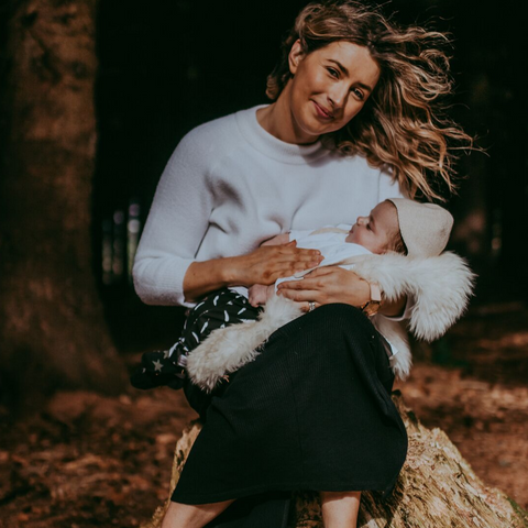 Sophie Cafolla with son Dominic