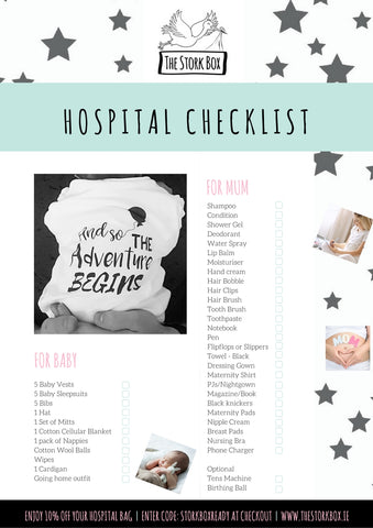 The Stork Box Hospital Bag Checklist