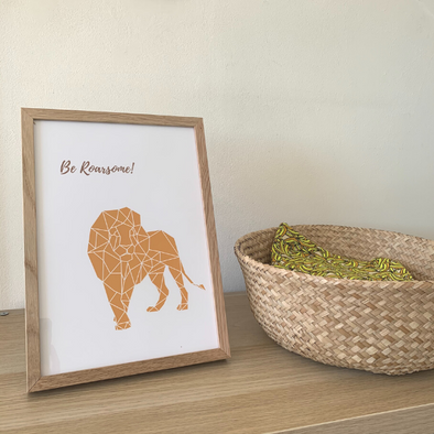 Be Roarsome Print