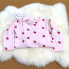 Organic Cotton Grippy Zippy Sleepsuit - Raspberry Print