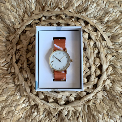 Kids Watch - Tan/White