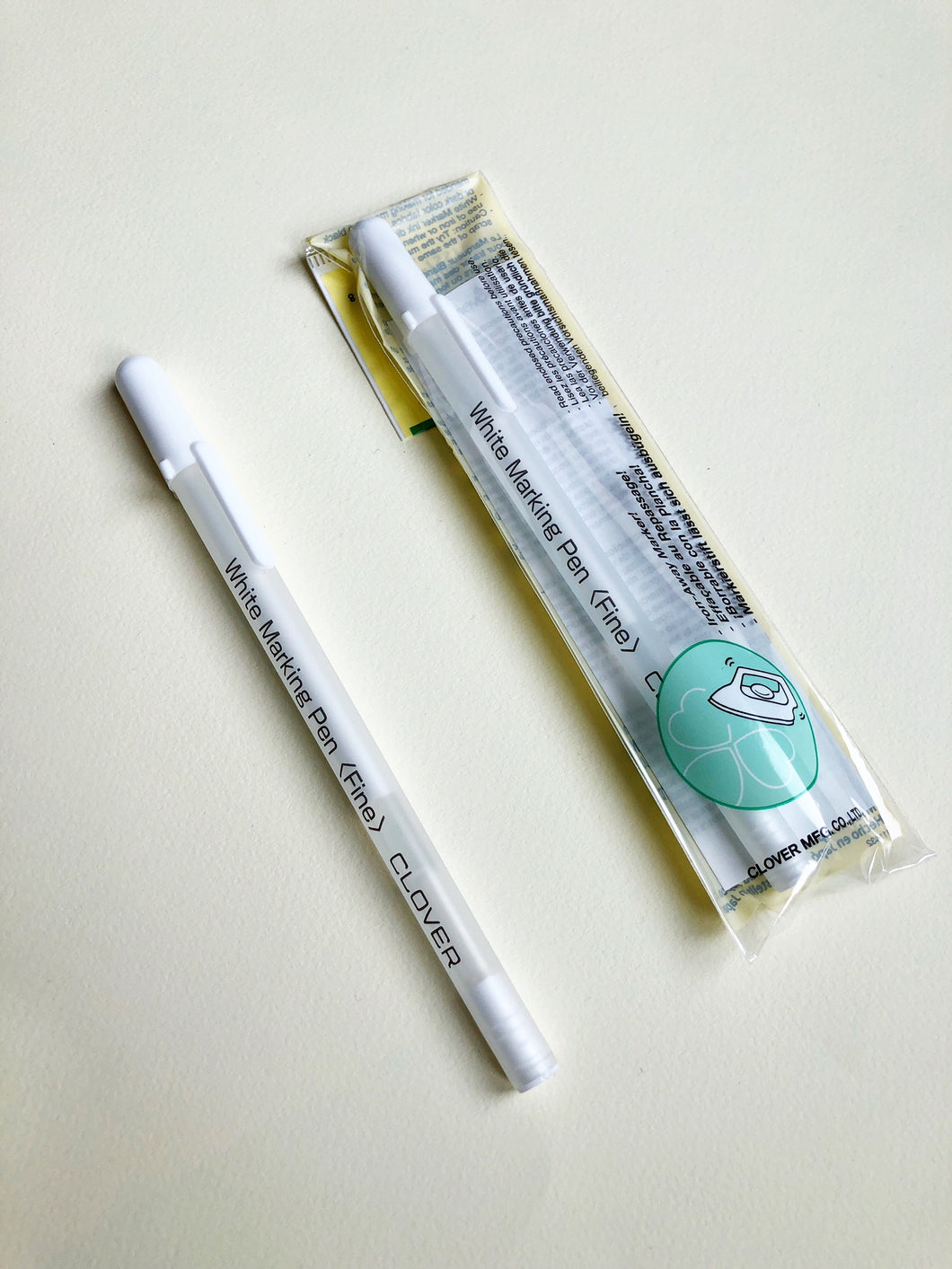 Water Soluble or Iron off White Marking Pen