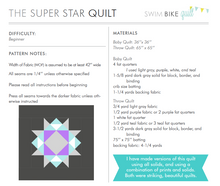Super Star Quilt Pattern