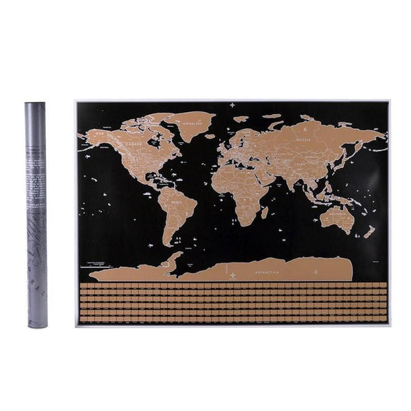 Globetrotter Scratchable World Map - Deluxe Edition