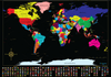Globetrotter Maps® Scratchable World Map