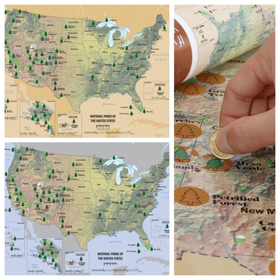US National Parks Scratchable Map – Globetrotter Works