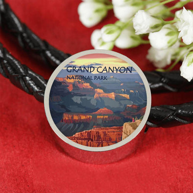 US National Parks Leather Charm Bracelet - Grand Canyon National Park