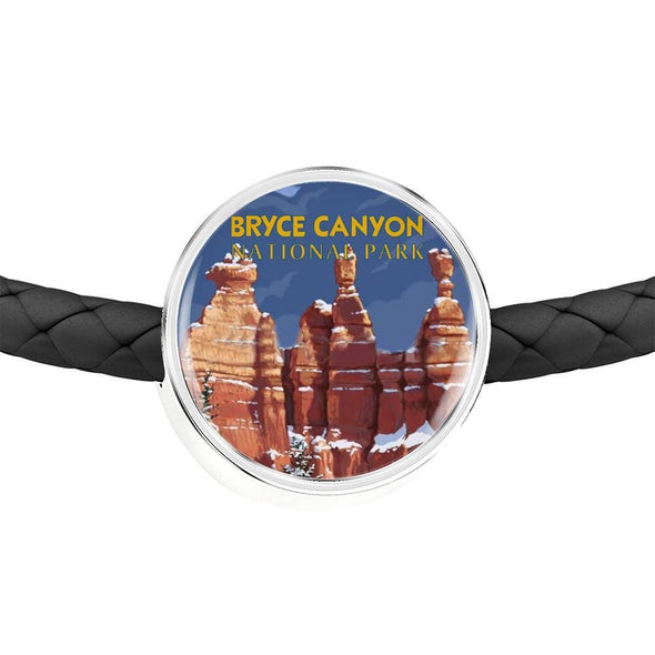 US NATIONAL PARK LEATHER CHARM BRACELET - BRYCE CANYON NATIONAL PARK