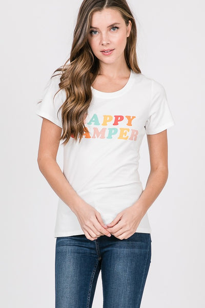 Happy Camper Tee in White