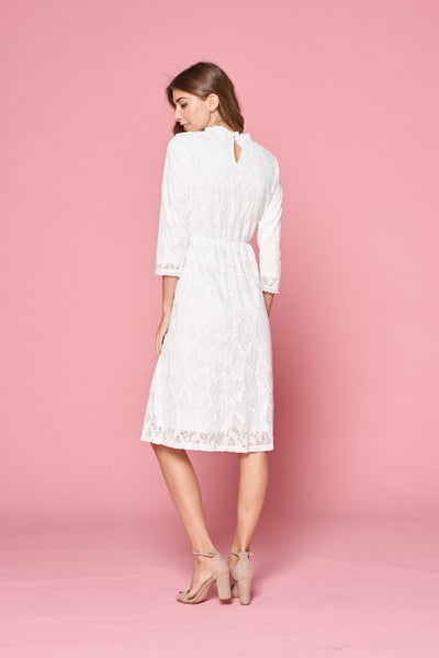 Andrea Lace Dress in White